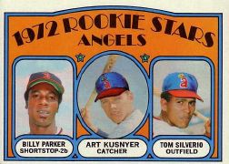 1972 Topps Baseball Cards      213     Billy Parker/Art Kusnyer/Tom Silverio RC